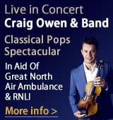 Live in Concert - Craig Owen & Band. In Aid Of Great North Air Amulance & RNLI