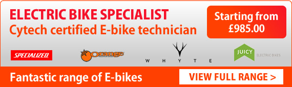 Electric bike specialist with Cytech certified E-bike technician. Demo bikes available. Click to view full range.