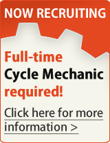 Now Recruiting. Bike Scene is currently looking to recruit a Cycle Mechanic to work in our busy workshop on a full-time basis. Click here for details.